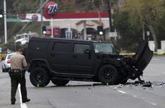 A damaged vehicle is pictured at the scene of a four-car crash involving Olympic gold medalist and reality TV star Bruce Jenner, now known as Caitlyn, in Malibu, California, in this file photo taken February 7, 2015. REUTERS/Jonathan Alcorn/Files