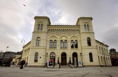 Здание Нобелевского центра мира в Осло. 6 декабря 2007 года. ФИФА получила очередной удар по своей репутации в понедельник, когда Нобелевский центр мира отказался от сотрудничества с оказавшейся в центре коррупционного скандала спортивной организацией. REUTERS/Scanpix/Kyrre Lien
