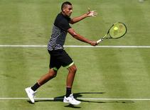 Aegon Championships - Queens Club, London - 16/6/15. Australia's Nick Kyrgios in action during his first round match. Action Images via Reuters / Paul Childs Livepic