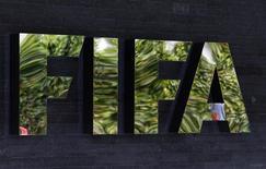 Logo da Fifa visto na sede, em Zurique.  27/05/2015    REUTERS/Ruben Sprich