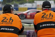Race stewards attend the Le Mans 24 Hours sportscar race in Le Mans, central France June 14, 2015. REUTERS/Stephane Mahe