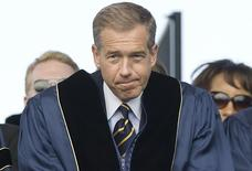 NBC News anchor Brian Williams prepares to receive an honorary doctorate in humane letters from George Washington University in Washington, in this file photo taken May 20, 2012. REUTERS/Jonathan Ernst/Files