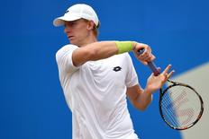 Tennis - Aegon Championships - Queens Club, London - 20/6/15 South Africa's Kevin Anderson in action during his semi final match Action Images via Reuters / Tony O'Brien Livepic