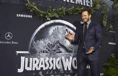 """Ator Chris Pratt na pré-estreia de """"Jurassic World"""", em Hollywood, na Califórnia, em junho. 09/06/2015 REUTERS/Mario Anzuoni"""