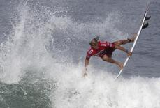 Owen Wright of Australia surfs during the men's Association of Surfing Professionals (ASP) Billabong Rio Pro championship at Arpoador beach in Rio de Janeiro May 9, 2012. REUTERS/Sergio Moraes