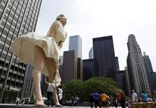 Estátua de Marilyn Monroe em Chicago 15/11/2011 REUTERS/Jim Young