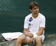 Tennis - Wimbledon Preview - All England Lawn Tennis & Croquet Club, Wimbledon, England - 28/6/15 Spain's David Ferrer during practice Action Images via Reuters / Andrew Couldridge Livepic EDITORIAL USE ONLY.