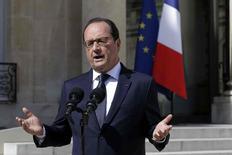 Presidente francês, François Hollande, durante discurso em Paris.   29/06/2015  REUTERS/Philippe Wojazer