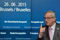 Presidente da Comissão Europeia, Jean-Claude Juncker, durante cúpula em Bruxelas.  26/06/2015   REUTERS/Eric Vidal
