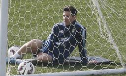 Lionel Messi em treino da seleção argentina na Copa América, em Viña del Mar. 27/06/2015  REUTERS/Rodrigo Garrido