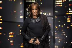 Designer Donna Karan poses for a portrait before presenting the Donna Karan New York Fall/Winter 2015 collection at New York Fashion Week February 16, 2015. REUTERS/Andrew Kelly