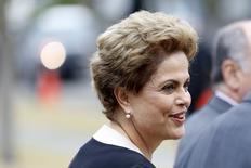 Presidente do Brasil, Dilma Rousseff, durante encontro na Califórnia.   02/07/2015   REUTERS/Stephen Lam
