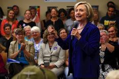 Pré-candidata democrata Hillary Clinton em campanha em Iowa City, nos Estados Unidos, nesta terça-feira. 07/07/2015 REUTERS/Jim Young