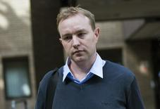 Former trader Tom Hayes leaves Southwark Crown Court in London, Britain July 7, 2015. REUTERS/Neil Hall