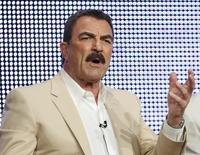 Actor Tom Selleck talks about his show 'Blue Bloods' during the CBS, Showtime and the CW Television Critics Association press tour in Beverly Hills, California, July 28, 2010. REUTERS/Lucy Nicholson