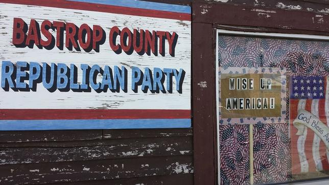 The headquarters of the Bastrop County Republican Party are seen in Bastrop, Texas July 10, 2015.  REUTERS/Jon Herskovitz