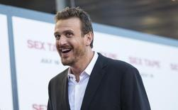 "Cast member Jason Segel attends the premiere of ""Sex Tape"" in Los Angeles, California July 10, 2014. REUTERS/Mario Anzuoni"