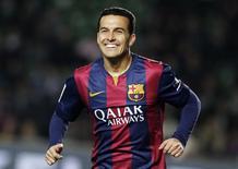 Atacante do Barcelona Pedro. 24/01/2015 REUTERS/Heino Kalis