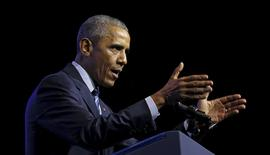 Obama discursa em conferência em Filadélfia. 14/07/2015 REUTERS/Kevin Lamarque