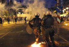 Protesto em Atenas 15/7/2015  REUTERS/Yannis Behrakis