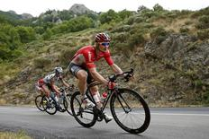 Lotto-Soudal rider Andre Greipel of Germany rides during the 183-km (113.71 miles) 15th stage of the 102nd Tour de France cycling race from Mende to Valence, France, July 19, 2015. REUTERS/Benoit Tessier