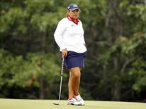 Lizette Salas of the U.S. looks over the 12th green during the second round of the 2013 U.S. Women's Open golf championship at the Sebonack Golf Club in Southampton, New York in this file photo taken on June 28, 2013. REUTERS/Adam Hunger