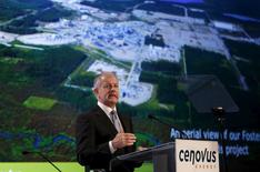President and CEO Brian Ferguson of Cenovus Energy addresses shareholders during the company's annual general meeting in Calgary, Alberta, April 29, 2015. REUTERS/Todd Korol
