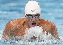 Ryan Lochte of the U.S. swims in a men's 200m individual medley heat at the Aquatics World Championships in Kazan, Russia, August 5, 2015. REUTERS/Stefan Wermuth