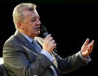 Presidente da Petrobras, Aldemir Bendine, durante evento em São Paulo.  6/07/2015. REUTERS/Paulo Whitaker