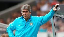 Técnico do Manchester City, Manuel Pellegrini, durante amistoso pré-temporada, na Alemanha.  01/08/2015  Action Images via Reuters / John Marsh Livepic