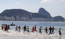 Atletas participam de evento-teste de ciclismo para Jogos no Rio.  2/8/2015. REUTERS/Sergio Moraes