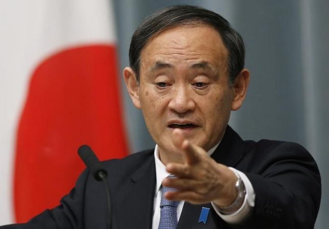 8月11日、菅官房長官は、九電の川内原発1号機について「再稼働を判断するのは事業者であり、政府は万が一事故が起きた場合に先頭に立って対応する責任がある」と述べた。写真は1月撮影(2015年 ロイター/Yuya Shino)