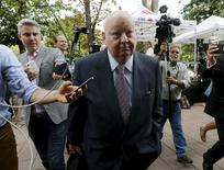 Suspended Senator Mike Duffy arrives at the courthouse in Ottawa, Canada, August 13, 2015. REUTERS/Chris Wattie