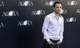 """Diretor espanhol Alejandro Amenábar drurante estreia de seu filme """"Agora"""", em Madri.  06/10/2009    REUTERS/Sergio Perez"""