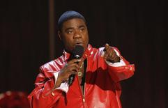 "Actor Tracy Morgan speaks during the taping of the Spike TV special tribute ""Eddie Murphy: One Night Only"" at the Saban theatre in Beverly Hills, California in this November 3, 2012 file photo.  REUTERS/Mario Anzuoni/Files"