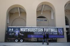 The exterior of Ryan Field, home field for the Northwestern University football team, is seen while athletes voted to determine if they want to form a union in Evanston, Illinois, April 25, 2014. REUTERS/Jim Young