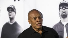 "Producer Dr. Dre arrives at the premiere of ""Straight Outta Compton"" in Los Angeles, California August 10, 2015. REUTERS/Mario Anzuoni"