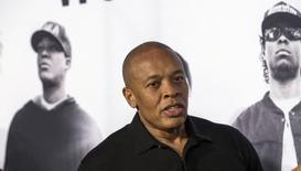 Rapper e co-fundador da Beats Eletronics Dr. Dre durante evento em Los Angeles.  11/08/2015    REUTERS/Mario Anzuoni