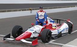 Piloto de IndyCar Justin Wilson em Indianapolis, nos Estados Unidos, no ano passado. REUTERS/Brian Spurlock/USA TODAY