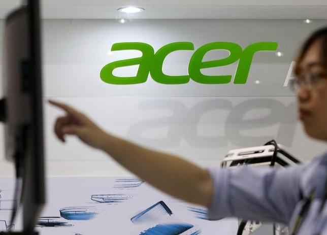 8月27日、台湾のパソコン大手エイサーの創業者である施振栄氏が買収提案を歓迎すると表明した。台北で6月撮影(2014年 ロイター/PICHI CHUANG)