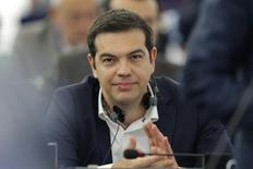 Ex-premiê grego Alexis Tsipras durante debate na França.  08/07/2015   REUTERS/Vincent Kessler