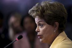 Presidente Dilma Rousseff durante evento no Palácio do Planalto. 2/9/2015 REUTERS/Ueslei Marcelino