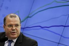Presidente do Banco Central, Alexandre Tombini, durante audiência na Câmara dos Deputados, em Brasília 26/05/ 2015. REUTERS/Ueslei Marcelino