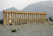 Colunas vistas na cidade histórica de Palmira, na Síria.   12/06/2009   REUTERS/Gustau Nacarino