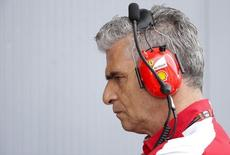 Ferrari Formula One team principal Maurizio Arrivabene looks on during the first free practice session for the Italian F1 Grand Prix in Monza September 4, 2015.  REUTERS/Max Rossi