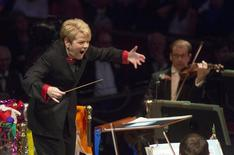 US conductor Marin Alsop performs at the last night of the BBC Proms festival of classical music at the Royal Albert Hall in London, Britain September 12, 2015. REUTERS/Neil Hall