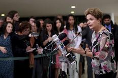 Presidente Dilma Rousseff durante entrevista no Palácio do Planalto. 15/09/2015 REUTERS/Ueslei Marcelino