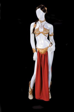 The Princess Leia slave costume worn by actress Carrie Fisher in ''Star Wars Episode VI: Return of the Jedi'' is shown in this handout photo released to Reuters September 16, 2015. REUTERS/Profiles in History/Handout via Reuters