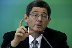 Ministro da Fazenda, Joaquim Levy, durante evento no Palácio do Planalto, em Brasília.   14/09/2015    REUTERS/Ueslei Marcelino