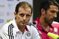 Técnico da Juventus, Massimiliano Allegri, durante entrevista coletiva na China.  06/08/2015  REUTERS/Stringer